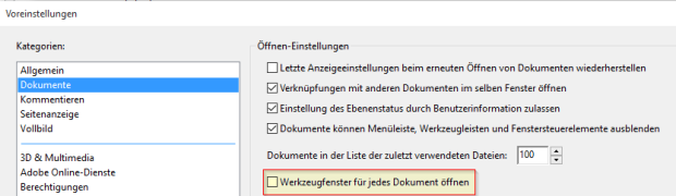 Adobe Acrobat Reader DC - Werkzeugleiste dauerhaft ausblenden (ohne Werkzeuge starten)