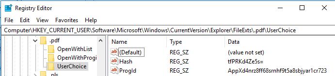 Applikationen verknüpfen: Registry-Keys