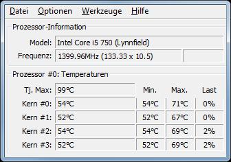 Deutlich geringere CPU-Temperaturen nach Wärmeleitpasten-Erneuerung