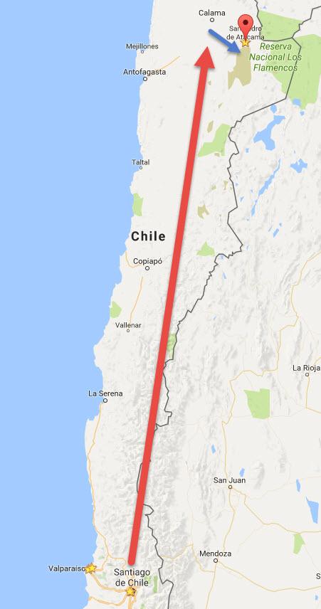 Chile: Santiago nach San Pedro de Atacama