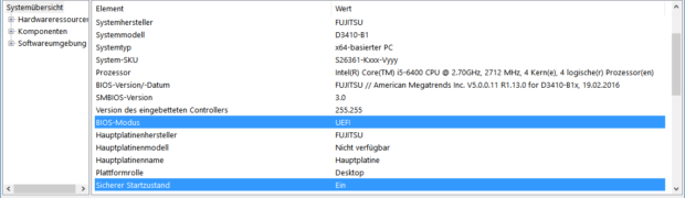 Windows 10 mit UEFI-SecureBoot auf GPT-Disk installieren