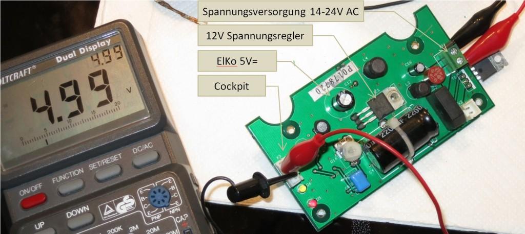 DAUM Ergometer Netzteil-Platine, Bauteilseite