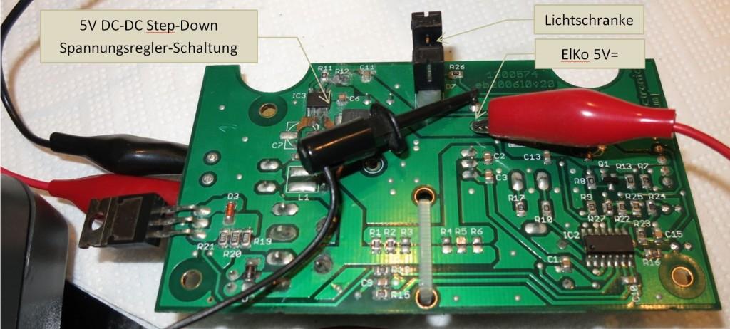 DAUM Ergometer Netzteil-Platine, Lötseite