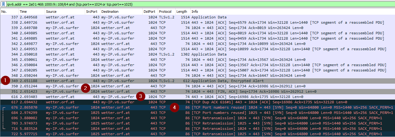 Wireshark-Analyse Connect-Box CH7465LG-LC Modem-Reboot